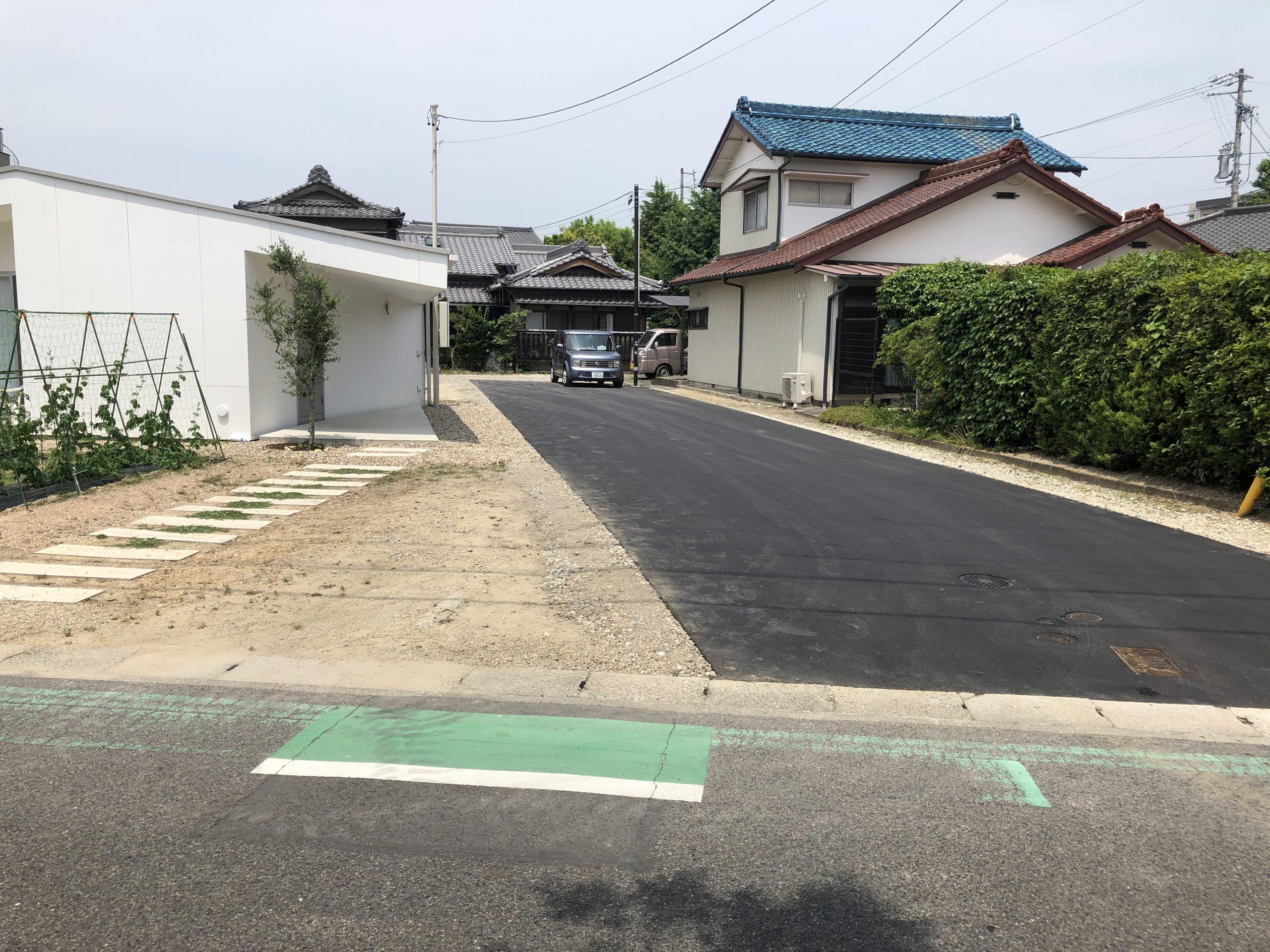 【愛知県長久手市】自宅新築後、駐車場も綺麗に舗装