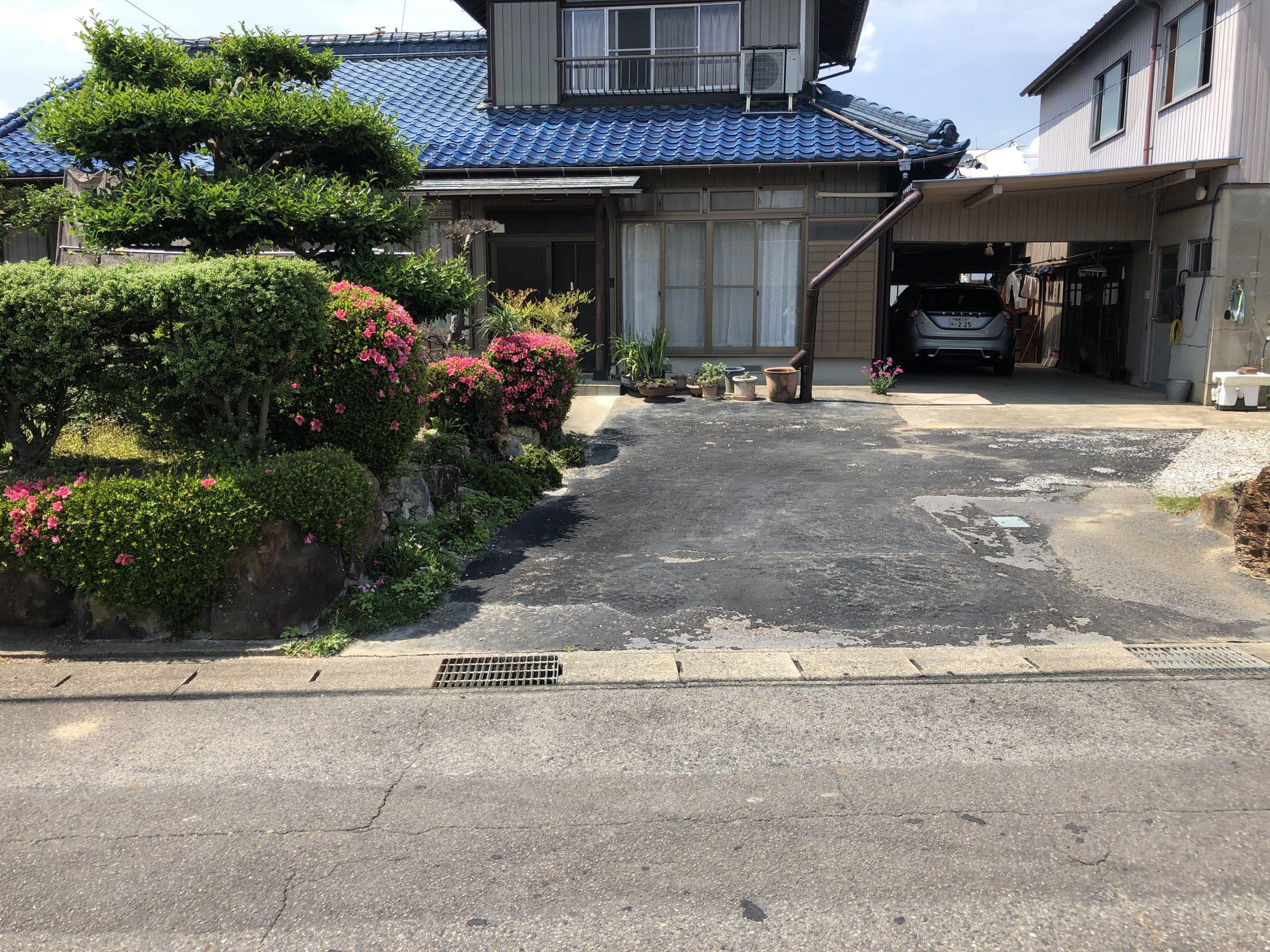 【岐阜県】敷地内駐車場舗装