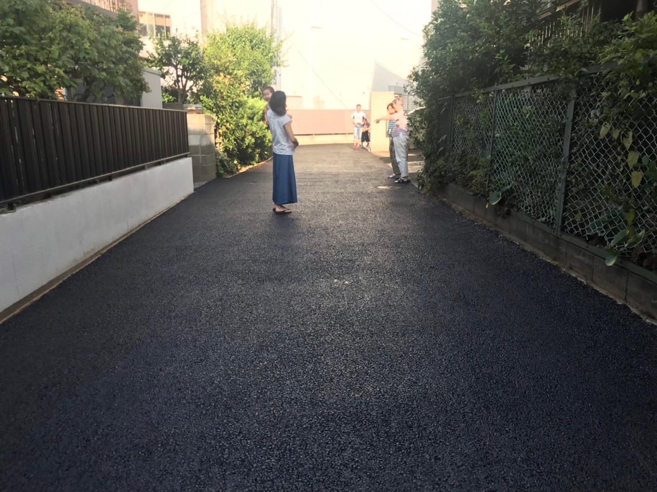 【神奈川県】未舗装の敷地内通路