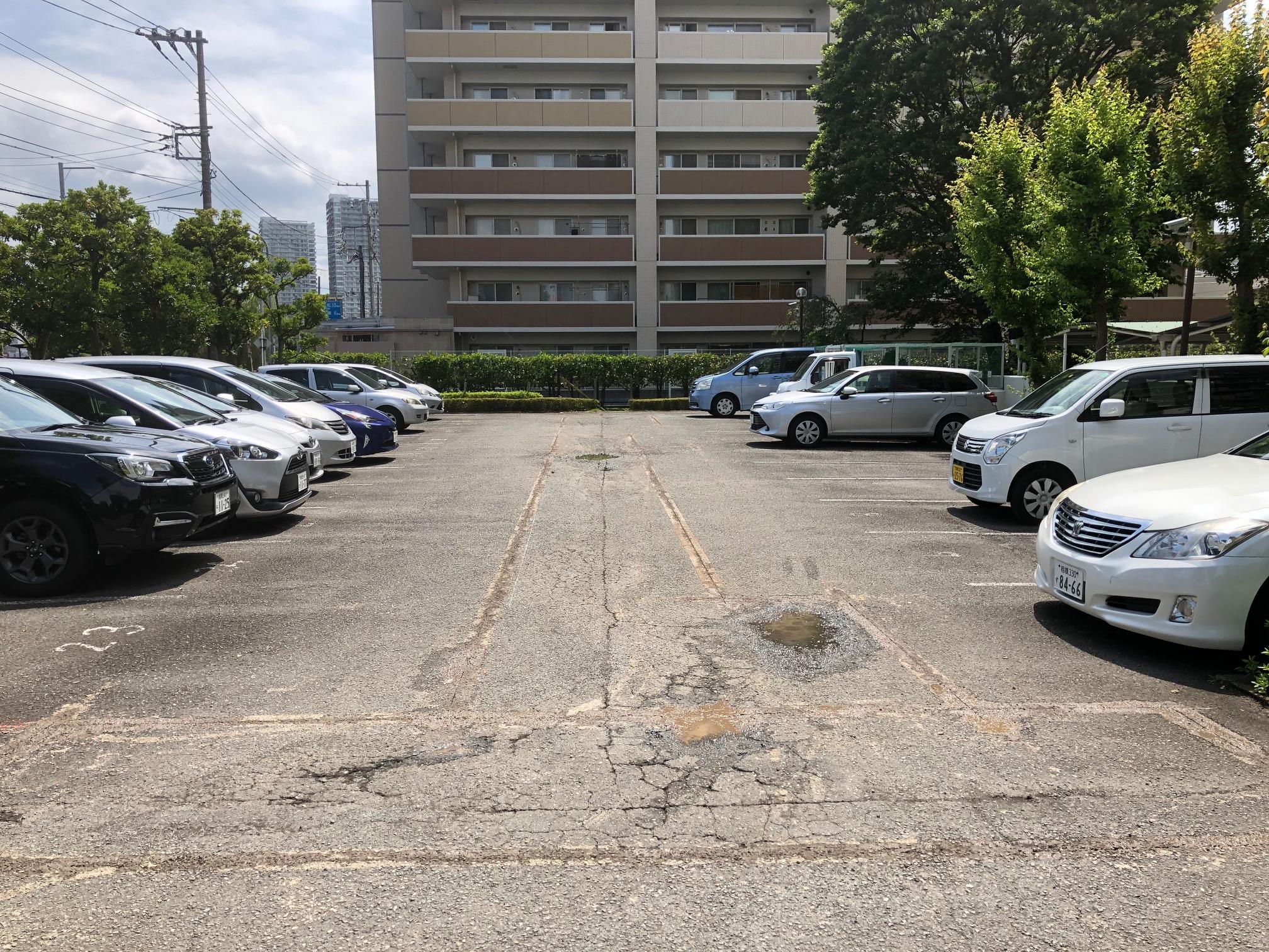 【神奈川県】マンション駐車場補修工事